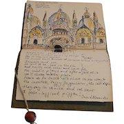Sketchbook of Original Watercolor paintings of Travels in Europe ~ Barbara Stoll