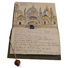 Sketchbook of Original Watercolor paintings of Travels in Europe ~ Barbara Stoll