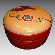 Awesome Asian Lacquer Box ~ Hand Painted with Oriental / Chinese Style Dragon and Emblem