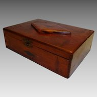 Inlaid Tea  / Cigar Box ~ Wide Awake Tea Co / Fac No. 35 1st dist of PA ~ Early 1900's