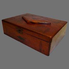 Inlaid Tea  / Cigar Box ~ Wide Awake Tea Co / Fac No. 35 1st dist of PA ~ Early 1900's