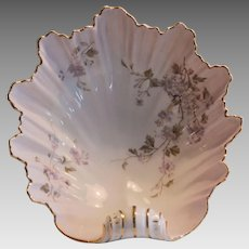 50% OFF! - Large Shell shaped bowl  10'' long. Handpainted, C.T Germany circa 1875-1934.