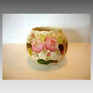 Beautiful Porcelain Rose Bowl ~ Hand Painted with Pink Flowers ~ Decorators Mark Unknown