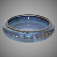 Beautiful Fulper LOW FLOWER BOWL Chinese Blue Crystalline Glaze ~ Fulper Pottery Flemington, New Jersey 1922-1928