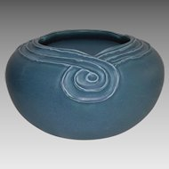 LARGE Vellum Blue Bowl ~ Hard to find # 1375~ Rookwood Pottery Cincinnati OH 1909