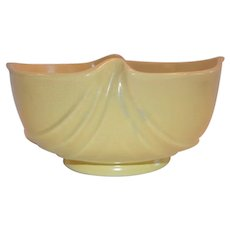 Vintage Bowl / Planter ~ Softone Yellow ~ Weller  Zanesville, OH 1930's