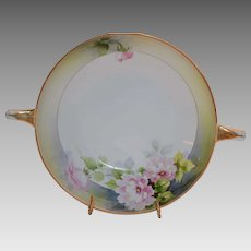 Japanese  Porcelain Bowl ~ Two handled Hand Painted Nippon 1890-1921