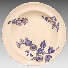 """50% OFF! (2) Serving Bowls- COPELAND FLOW BLUE - """"Ashburne"""" Pattern -1850-1867"""