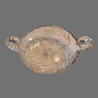 Cut Glass Bon Bon / Candy  Dish ~ American Brilliant Period early 1900's