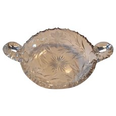 Cut Glass Bon Bon / Candy  Dish ~ American Brilliant Period early 1900's
