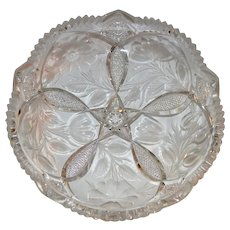 REDUCED!! Gorgeous Tray / Low Bowl ~ Tuthill Wild Rose / Rosemere Pattern ~ American Brilliant Period ~ Tuthill ca 1910