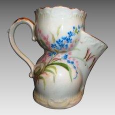 Rare Shaving Scuttle Mug ~ Limoges Porcelain ~ Hand Painted with Flowers for WW Smith ~ A. KLINGENBERG & CHARLES L. DWENGER (Limoges, France) - ca. 1890 - ca 1910s
