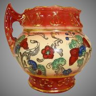 Colorful Faience / Earthenware ~ MUG  Haynes Balt Ware ~ Art Nouveau Pattern ca.1900 -1914 ~ DF Haynes (Chesapeake Pottery)
