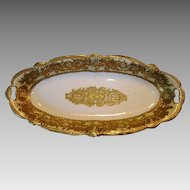 WONDERFUL  Nippon Relish / Celery Dish ~ Golden Moriage ~ Royal Crockery Noritake Nippon ~ 1895-1910