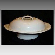 Wonderful Limoges Porcelain Covered Butter Dish ~ White with Basket Weave Braided Handles ~ Haviland & Co Limoges France 1876-1889
