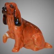 Cocker Spaniel K9  - Royal Doulton Figurine – Brown with Black Markings ~ Royal Doulton England 1931-1977