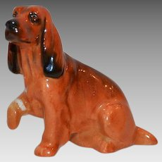 Cocker Spaniel K9  - Royal Doulton Figurine – Brown with Black Markings ~ Royal Doulton England 1931-1977