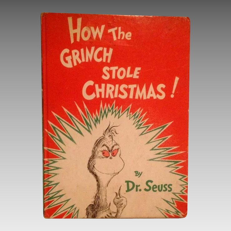 how the grinch stole christmas by dr seuss 1957 random house first edition - Dr Seuss How The Grinch Stole Christmas