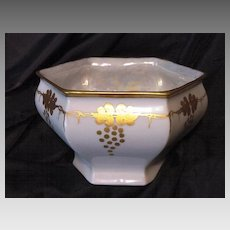 50% OFF! Royal Austria Porcelain – White Dish / Bowl / Vase with Gold Grape Art Nouveau Design ~ O&EG – Artist Signed - Oscar & Edger Gutherz 1899-1913