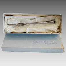 Silver Plate Nut Pick ~ Jaccards Box ~ E & J Bass  New York ~ Late 1800's