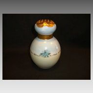 Beautiful Porcelain Sugar / Powder Shaker  / Muffineer ~ Hand Painted with Blue Forget-me –Nots ~ Artist Signed ~ 1918