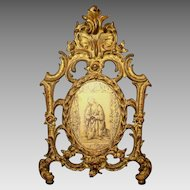 Nice Ornate Gilded Metal Picture / Mirror Frame