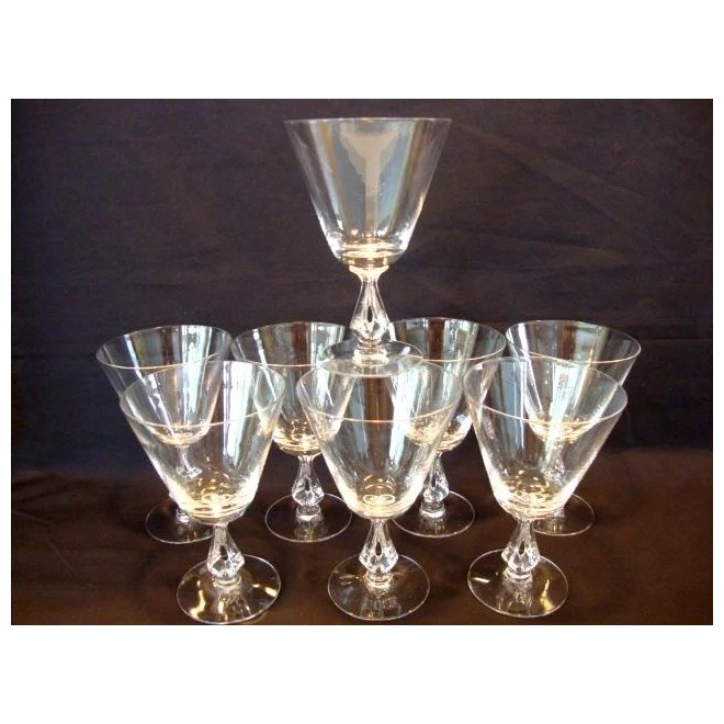 Set Of 8 Clear Glasses Beautiful Water Goblets 10 Oz Symphony Timber Hills Antiques Ruby Lane