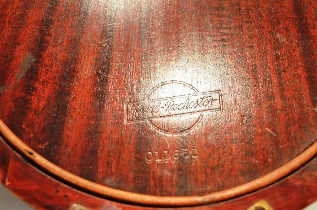 Nice Old Wood Serving Tray With Glass Cover Inlaid