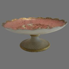 Beautiful Amphora Compote / Tazza ~ Reissner, Stellmacher and Kessel ~ RstK Turn Teplitz ~ Amphora Works Austria 1900-1904