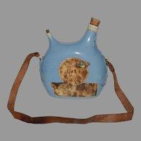 Earthenware Jug / Bottle  ~ Rene Briand 1914 Fine Champagne –Cognac, France  ~ Sarreguemines France