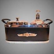 Bar Set Caddy ~ Mid-Century ~Musical ~ Decanter and Ice Bucket ~ ΑΕΦ Alpha Epsilon Phi Sorority Engraved