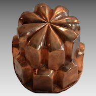 Antique Copper Mold ~ Flower Shape~ Tin Lined ~ late 1800's