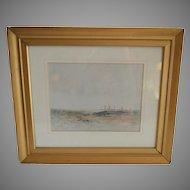 Original Watercolor of St. Andrews Scotland~ Signed Arthur Harris 1902