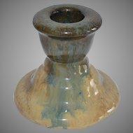 Wonderful Fulper Candle Stick Cats Eye Flambe ~ Fulper Pottery Company 1910-1929