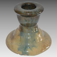 Wonderful Fulper Candle Stick Cats Eye Flambe ~ Fulper Pottery Company 1910-1929