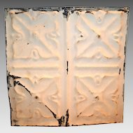 "Tin Ceiling Tile 11 1/2"" x 11 1/2 ""  1800's early 1900's"