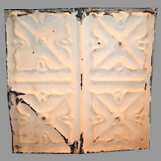 """Tin Ceiling Tile 11 1/2"""" x 11 1/2 """"  1800's early 1900's"""