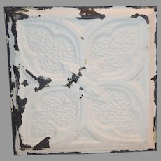 """Tin Ceiling Tile 11 3/4"""" x 12""""  1800's early 1900's"""