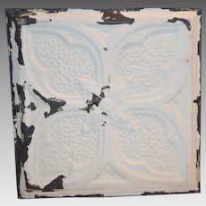 "Tin Ceiling Tile 11 3/4"" x 12""  1800's early 1900's"