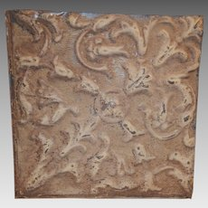 "Tin Ceiling Tile 12"" x 12""  1800's early 1900's"