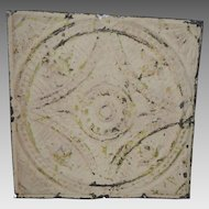 """Tin Ceiling Tile 12"""" x 12""""  1800's early 1900's"""