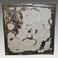 "Tin Ceiling Tile 12"" x 11 3/4""  1800's early 1900's"