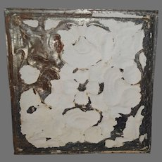 """Tin Ceiling Tile 12"""" x 11 3/4""""  1800's early 1900's"""