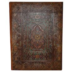 Portfolio / Blotter Tooled / Embossed Colored Leather Cover with Insert