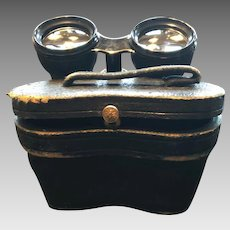 French Opera Glasses / Binoculars with case by Lemaire  ~ Paris France late 1800's early 1900's