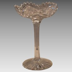 American Brilliant Period ~ ABP ~ Cut Glass Compote Late 1800's