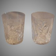Pair Tumbler / Cocktail Glasses ~ ABP Cut Crystal~ Classic Look 1850-1920