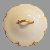 Nice White Haviland Limoges Porcelain Lid for Round Vegetable Dish ~ Silver Anniversary ~ Haviland Limoges France 1894-1931