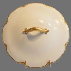 Nice White Haviland Limoges Porcelain Lid for Round Vegetable Dish ~ Silver Anniversary ~ Haviland Limoges France 1894-1931