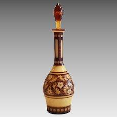 Bohemian Decanter ~ Art Nouveau ~  Overlay Cut Glass ~ Famosa Austria 1920's – 1930's